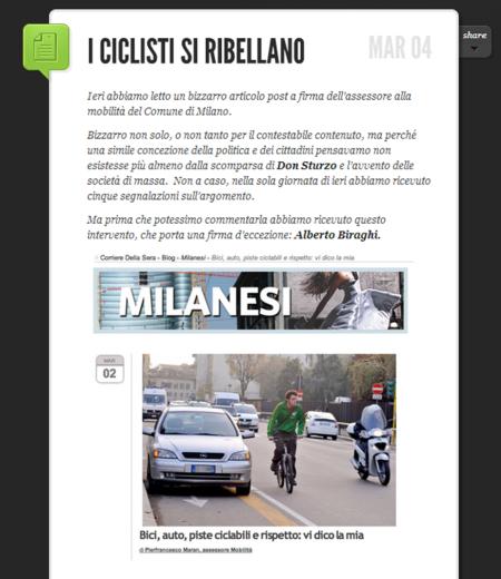 un post di Alberto Biraghi -su I Hate MIlano - contro un intervento di Maran